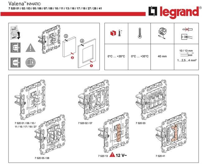 Двухклавишный Выключатель Legrand Инструкция
