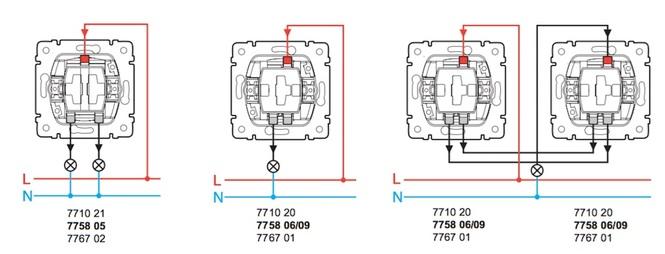 Схема подключения 775805, 771021, 775806, 771024, 771020, 775809