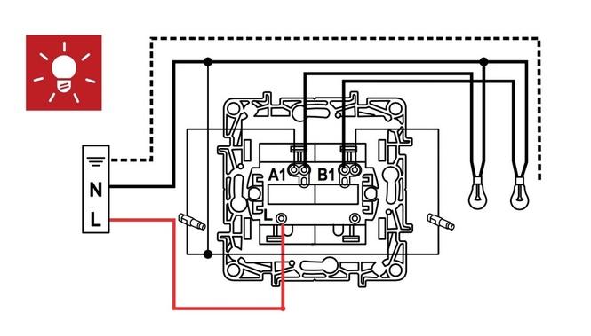 Схема двухклавишного выключателя legrand фото 617