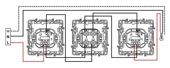 Схема подключения переключателя с двух мест фото 114